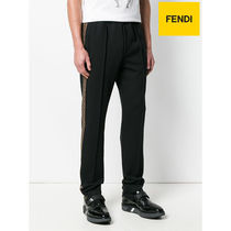 【FENDI】PANTALONI LOGO SIDE BAND