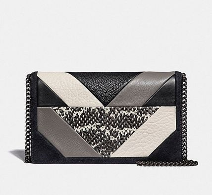 Coach ◆ 38975 Callie foldover chain clutch with patchwork