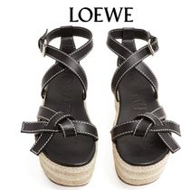 【19SS】LOEWE★Gate knotted wedge sandals