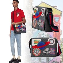 GUCCI ロゴ・アニマル柄アップリケ バッグ GG Supremeキャンバス