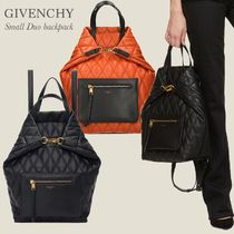 GIVENCHY DUO BACKPACK / TOTE BAG IN QUILTED CANVAS