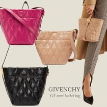 GIVENCHY MINI GV BUCKET BAG IN QUILTED LEATHER