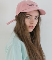 ATTENTIONROW(アテンションロー) キャップ I LOVE YOU 8-panel baseball cap (PINK)