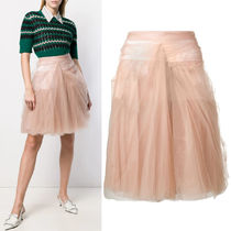 PR1712 RUCHED TULLE SKIRT