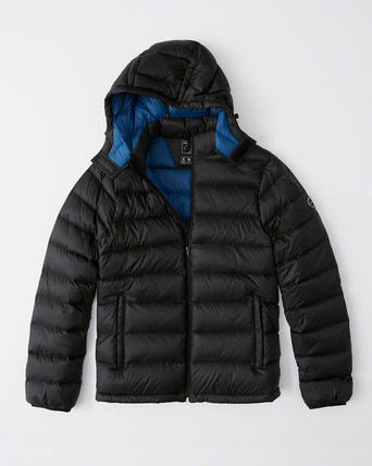 Lサイズ   THE A&F REMOVABLE HOOD PACKABLE PUFFER