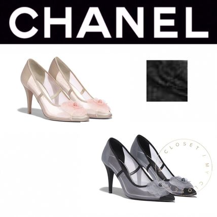 1be7a06f1ae0 CHANEL パンプス CHANEL パンプス カメリア 花 CC メッシュ 人気 クリア 直営店 ...