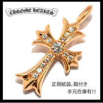 Chrome Hearts/Tiny CH Cross 22K パヴェダイヤ/正規紙袋付き