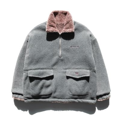 WV PROJECT アウターその他 WV PROJECT★Vely Reversible Fleece Anorak -CHARCOAL-MJMT7214(2)