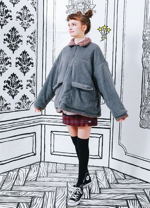 WV PROJECT アウターその他 WV PROJECT★Vely Reversible Fleece Anorak -CHARCOAL-MJMT7214(3)