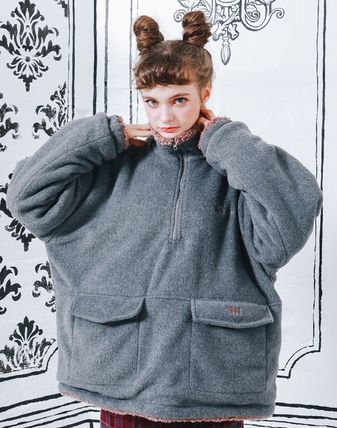 WV PROJECT アウターその他 WV PROJECT★Vely Reversible Fleece Anorak -CHARCOAL-MJMT7214(6)