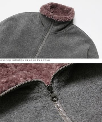 WV PROJECT アウターその他 WV PROJECT★Vely Reversible Fleece Anorak -CHARCOAL-MJMT7214(10)