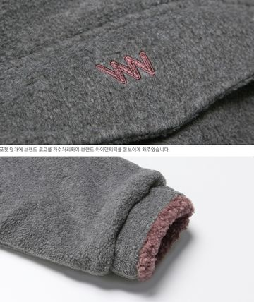 WV PROJECT アウターその他 WV PROJECT★Vely Reversible Fleece Anorak -CHARCOAL-MJMT7214(12)