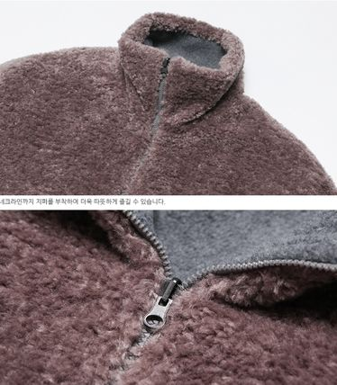 WV PROJECT アウターその他 WV PROJECT★Vely Reversible Fleece Anorak -CHARCOAL-MJMT7214(13)