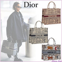 【19Cruise】Dior_women / DIOR BOOK TOTE / キャンバスバッグ