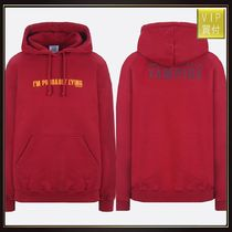 【VETEMENTS】Graphic Fitted cotton hoodie