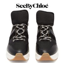 【19SS】SEE BY CHLOE★Nicole leather and mesh trainers
