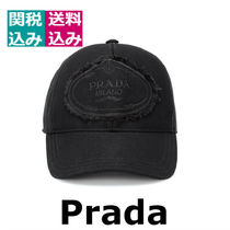 2019新着☆ PRADA ☆Embroidered cotton capキャップ