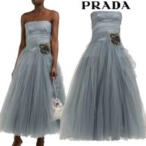 【19SS】★PRADA★Crystal-embellished tulle gown