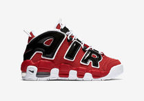 SS17 NIKE AIR MORE UPTEMPO RED BLACK REFLECTIVE GS 送料無料