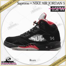 15AW /Supreme NIKE AIR JORDAN 5 RETRO Black ジョーダン 黒
