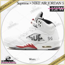 15AW /Supreme NIKE AIR JORDAN 5 RETRO White ジョーダン 白