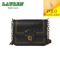 特価 ! Ralph Lauren Whipstitched Leather Crossbody Bag