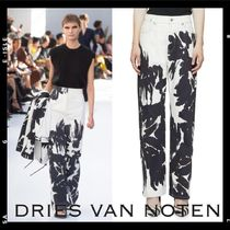 Runway【Dries Van Noten】Abstract Floral Painted Jeans