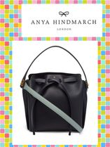ANYA HINDMARCH/Shoelace leather shoulder bag