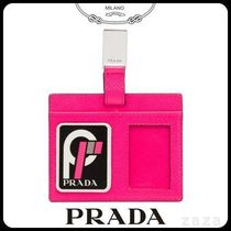 PRADAプラダ 1MC043 SAFFIANO LEATHER NAME TAG