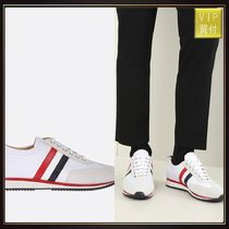 【THOM BROWNE】suede and technical fabric running sneakers