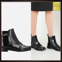 【CHURCH'S】Amelia leather monk strap booties