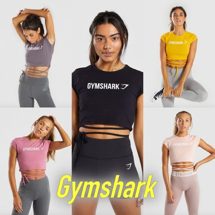 353dc39dd3d0f GymShark Tシャツ・カットソー ◇GymShark◇ RIBBON CAPPED SLEEVE CROP TOP ...