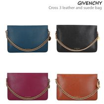 VIP価格!GIVENCHY Cross 3 leather and suede bag♪