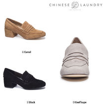 【CHINESE LAUNDRY】♡MARILYN KID SUEDE HEELED LOAFER