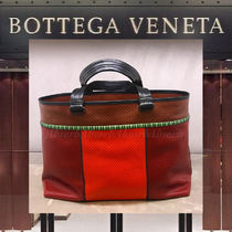 【19Cruise NEW 】BOTTEGA VENETA_men /刺繍入りトートバッグ/OR