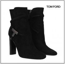 SALE★【TOM FORD】 Black Leather Suede ハイヒール ブーツ