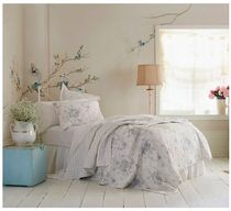 Simply Shabby Chic★Teal & White Shadow Rose キルト