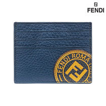 【FENDI】LOGO CARD HOLDER BLUE