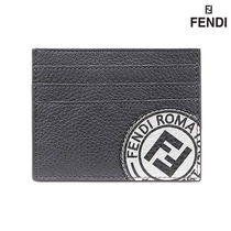 【FENDI】LOGO CARD HOLDER BLACK