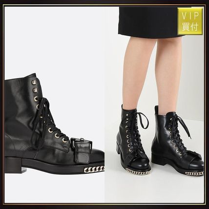 【N°21】Corallo leather combat boots