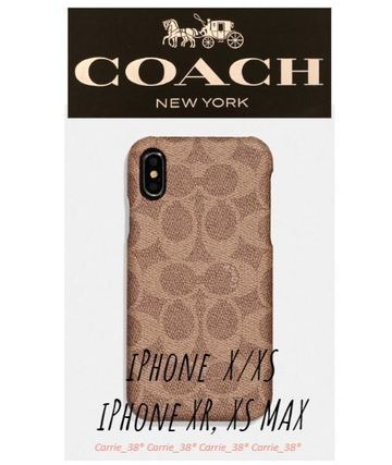 ★COACH★Signature canvas iPhone Case*iPhone X/XS,XR,XS MAX