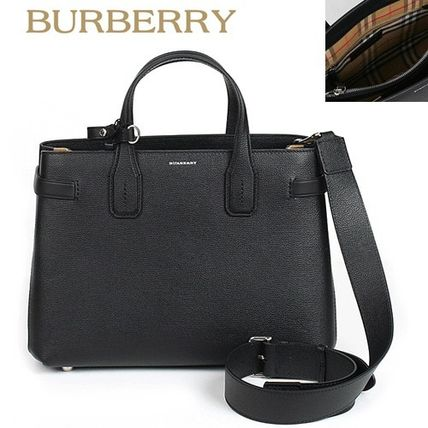 Burberry正規品/EMS発送/送料込み Vintage Check MD Banner Tote