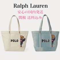 *国内発送* ポロベアー Polo Bear Canvas Polo Bear Tote Bag