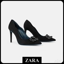 ★ZARA★ザラ  BLUE COLLECTION LEATHER HIGH HEEL SHOES