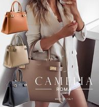 ☆CAMELIA ROMA☆LEATHER HANDBAG☆関税・送料込み☆