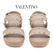 【19SS】★VALENTINO★Rockstud Torchon leather slides