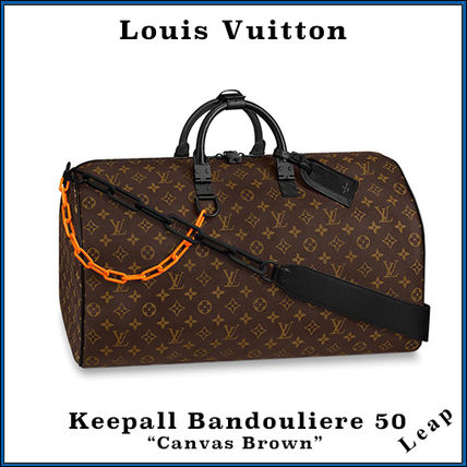 """【Louis Vuitton】 Keepall Bandouliere 50 """"Canvas Brown"""""""