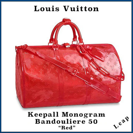 """【Louis Vuitton】 Keepall Monogram Bandouliere 50 """"Red"""""""