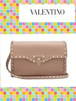(^O^)VALENTINO!(^^)!Rockstud leather cross-body bag
