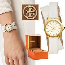 Tory Burch GIGI DOUBLE-WRAP腕時計/ WHITEレザー /GOLD-TONE